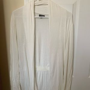 EXPRESS Large White Cardigan